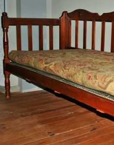 picture of a antique-couch-and-wooden-floor